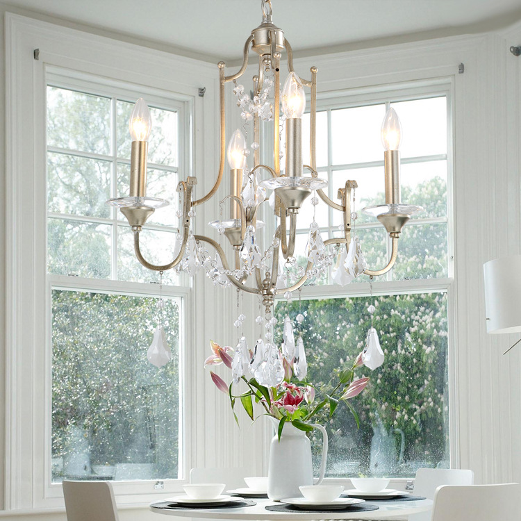 new american country iron art crystal chandelier nordic bedroom study dining room lamp balcony entrance stairs chandelier