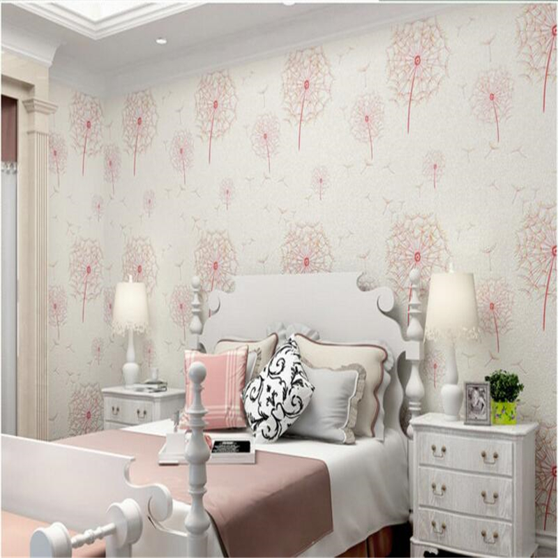 beibehang non woven wallpaper warm three dimensional pastoral dandelion living room bedroom television background wall study beibehang warm pink girl room wallpaper children s room non woven three dimensional love childrens clothing shop wallpaper