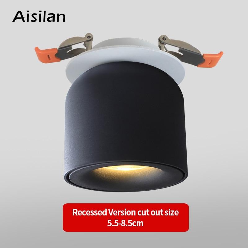 LED Downlight plafonnier lampe de vie éclairage nordique pour cuisine Foyer salle de bains Spot lumière Surface montée AC90-260V