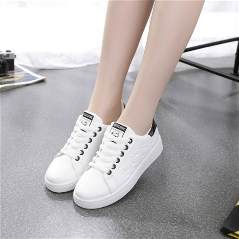 2018 Spring Woman Sport Shoes Women Sneakers white Running shoes jogging star Leather arena Athletic shoes Walking Light soft седло selle royal respiro soft athletic