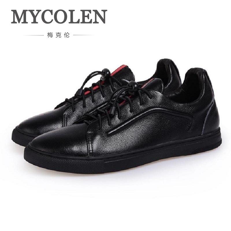 MYCOLEN Spring Autumn New Casual Black Men's Shoes European Breathable Comfort Super Soft Flat Shoes Men Chaussure Homme