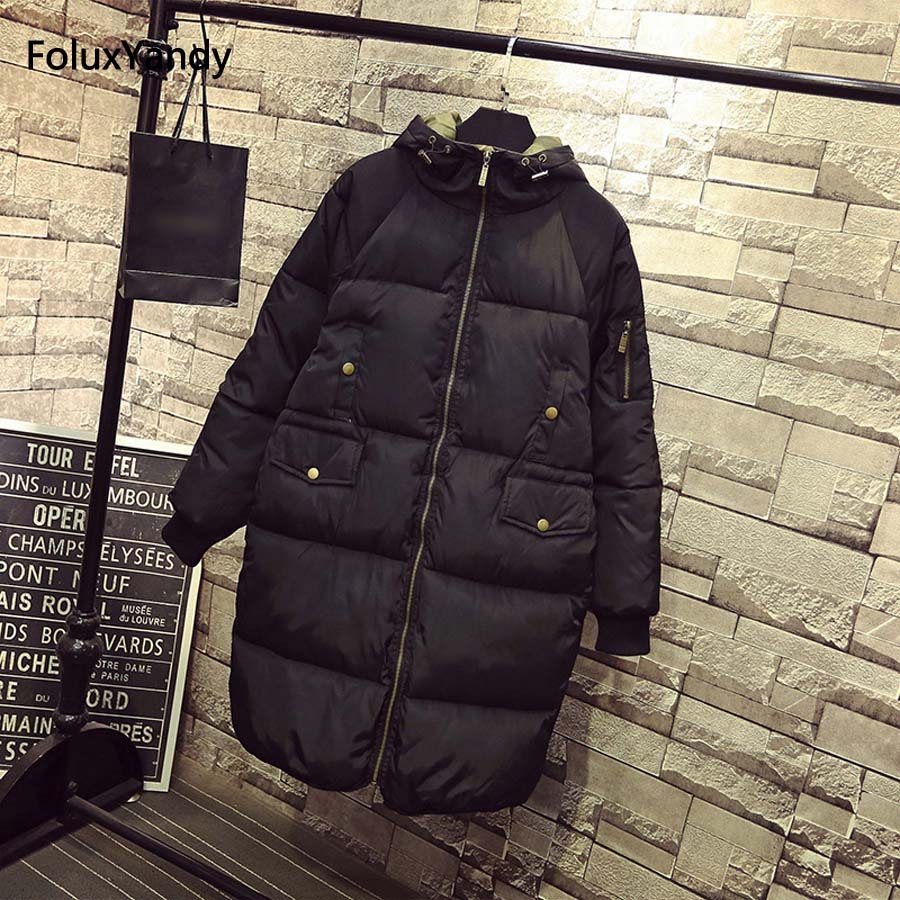 7 XL Plus Size Parkas Women Casual Hooded Outerwear Warm Thick Long Winter Parka Black Coats NQYL01