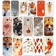 79G the fox is sleeping Case For Samsung Galaxy J3 2016 Case Soft TPU Silicone Cover for Samsung J3 2016 Cover Coque(China)
