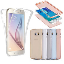 For iPhone 5 5S 6 6S Plus For Samsung Galaxy A3 A5 A7 J3 J5 2016 S3 S4 S5 S6 S7 Edge Plus TPU 360 degree Clear Soft Cover Cases(China)
