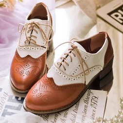 chaussures richelieu femme plate