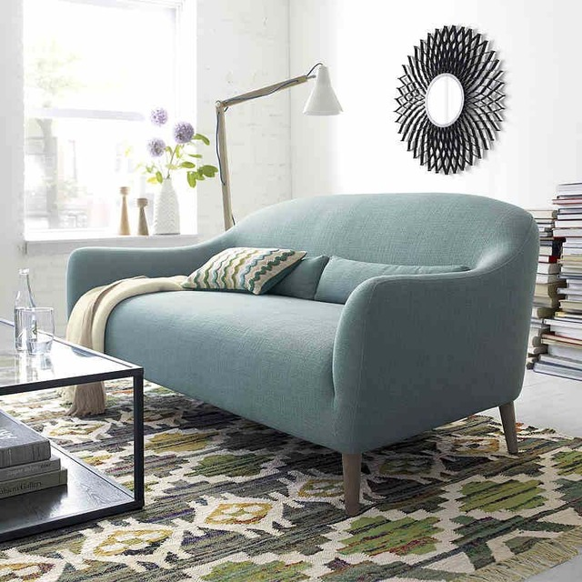 Nordic IKEA fabric sofa combination minimalist modern Japanese style ...