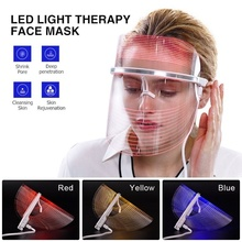 3Color LED Facial Mask Skin Rejuvenation Wrinkle Removal Anti-Aging Therapy lights multifunctional Beauty Machine