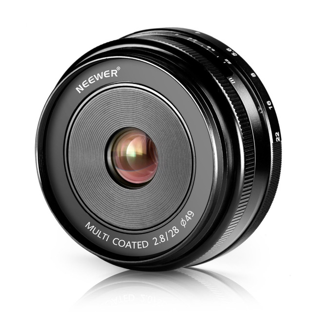 Neewer 28mm f/2.8 Manual Focus Prime Fixed Lens for SONY E-Mount Digital Cameras, Such as NEX3, 3N, 5,A6000, A6100 and A6300