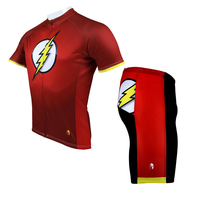 The Flash Cycling Jerseys Spring and Summer Short Sleeved dirt bike shirts Superheroes Cycling clothing for men