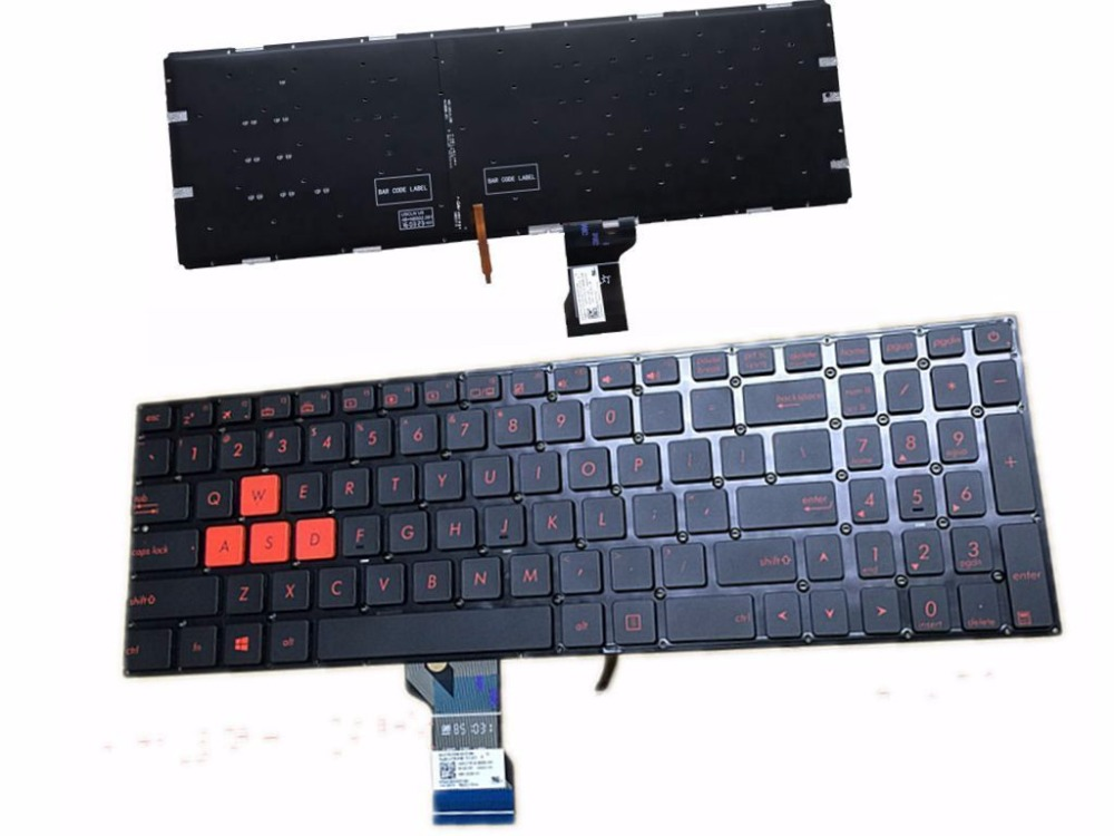 English Keyboard For ASUS GL502 GL502V GL502VT GL502VS GL502VM GL502VY US BACKLIT Standard English Layout(China)