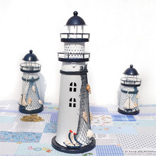 NDTUSMZ Led Night Light Handcraft Mediterranean Nautical Light Changing Beacon Designed Lighthouse Tools Table Lamp