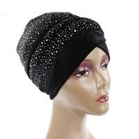 The New Fashion Women S Hat Full Of Sky Star Hot Drill Velvet Hood Hat Muslim