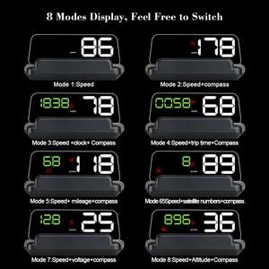 Image 3 - T900 HUD HeadUp Display Auto GPS Tacho Windschutzscheibe Projektor Mit Reflexion Bord Spiegel OBD2 Gauge Diagnose Werkzeug