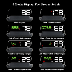 Image 3 - T900 HUD HeadUp Display Car GPS Speedometer Windshield Projector With Reflection Board Mirror OBD2 Gauge Diagnostic Tool