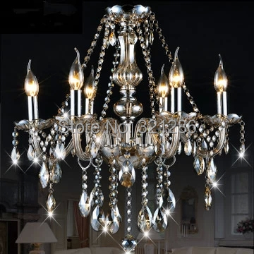 Modern brief crystal light candle lamp cognac chandelier bedroom lamp fashion Modern crystal light lustre