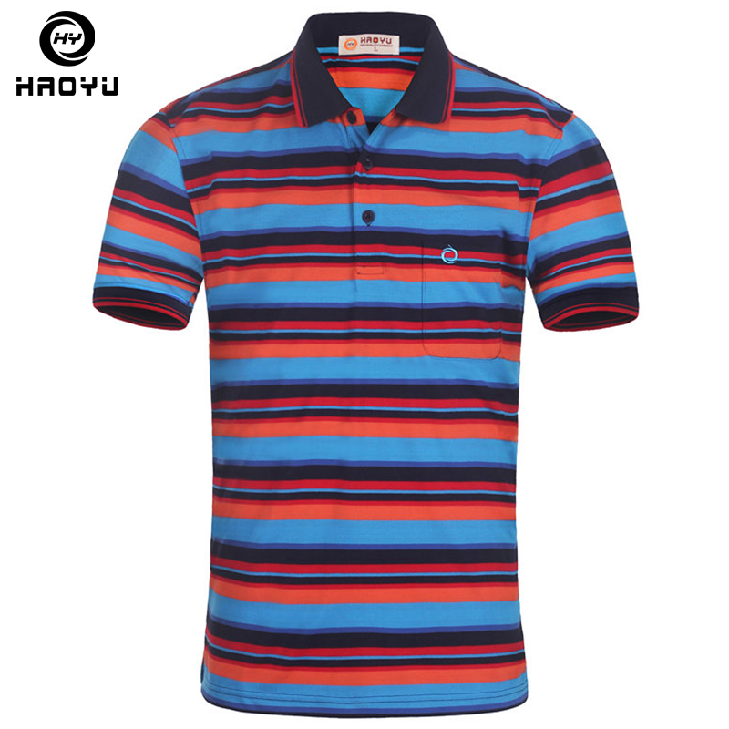 Men's Brand   Polo   Shirt 2016 New Stock Famous Brand Clothing Color Striped Slim Short Breathable Free Shipping