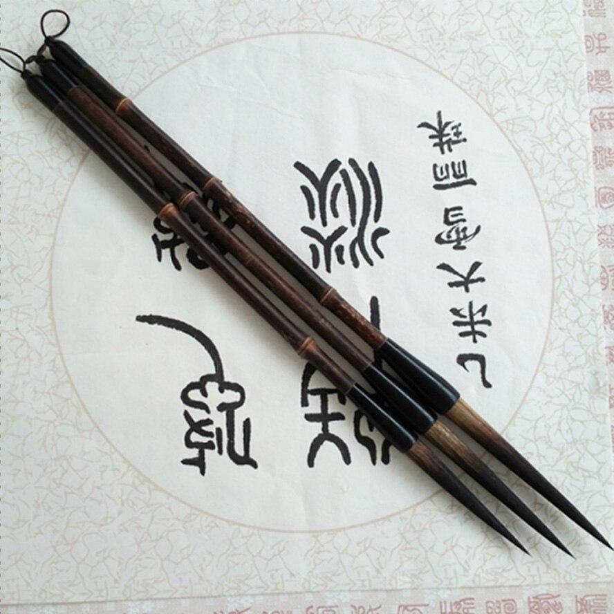 3 pcs Escovas de Caligrafia Chinesa pintura