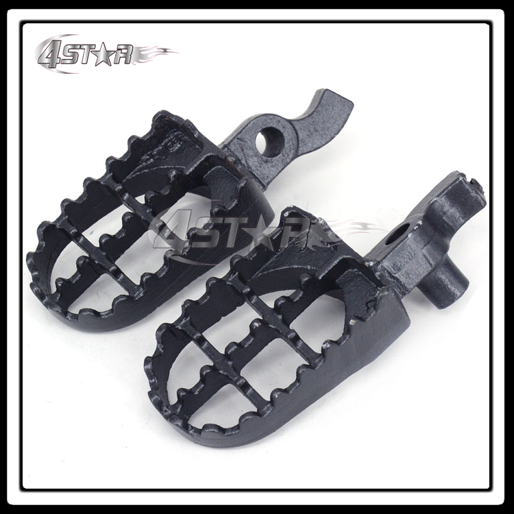 Free Shipping 1 Pair Steel MX Wide Foot Pegs Footpegs Rests Pedals For CR125 CR250 2000 2001 Motorcycle Dirt Pit Bike