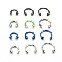 Конусная Подкова 316L хирургическое стальное кольцо для носа круговое сексуальное Пирсинг Кольца CBR Earring16G ювелирные изделия для тела для женщин девушек
