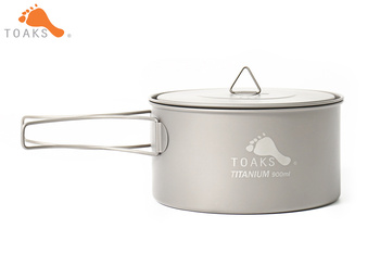 TOAKS POT-900-D130 Pure Titanium Camping Cookware Outdoor Pots, Can be Used As a Cups, Bowls and Pans 900ml 104g