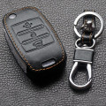 Leather Wallet Key For Kia Rio Sportage 2014 Venga Ceed Sorento Cerato K2 K3 K4 K5 Leather Keychains For Kia Case Key Car Smart