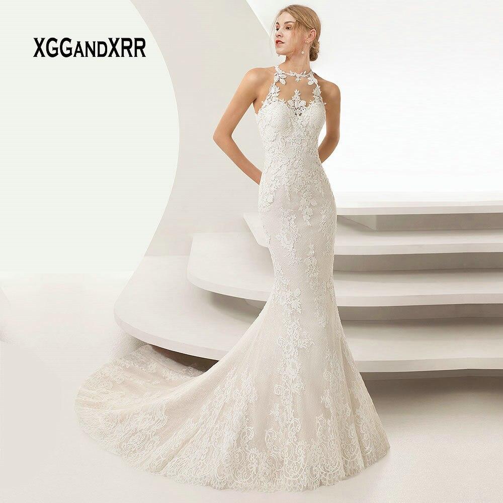 Elegant Mermaid Lace Wedding Dresses 2019 Bridal Gown