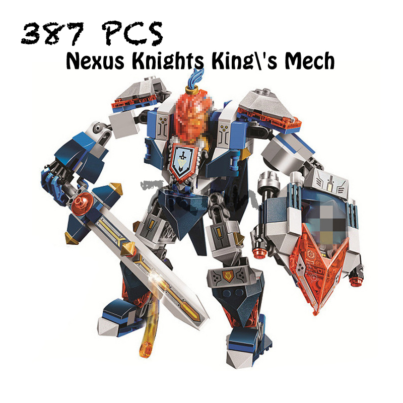 Compatible with lego 70327 Models building toy 10487 387pcs Nexus Knights Kings Mech Building Blocks toys & hobbies