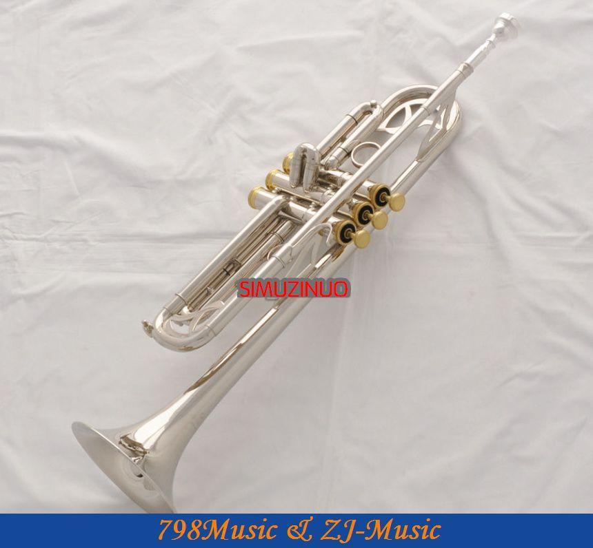 Profesionální stříbrná niklová trubka Monel Piston Bb Key