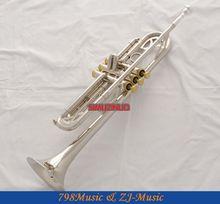 Key Piston Silver Trumpet