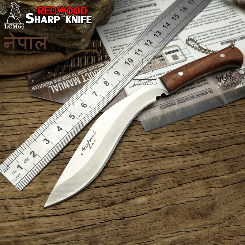 LCM66 Mini Machete Scorpion Outdoor Jungle Survival Battle Cs Go Cold Fixed Blade Hunting Knives Self Defense Fruit Knife  Steel