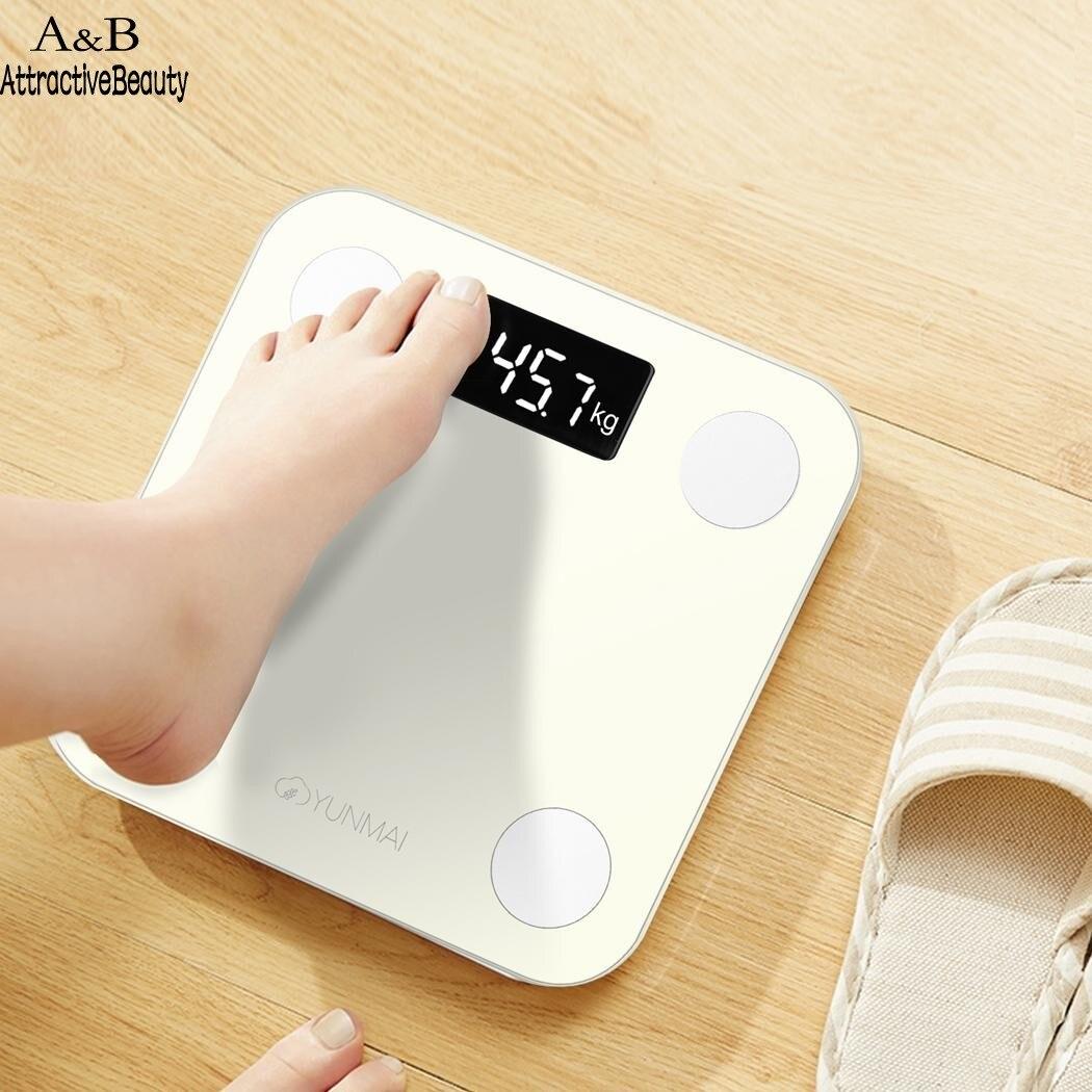 YUNMAI Fat Scale Lite Bluetooth Smart Mini Scale Body Fat Scale LED Digital living room Bathroom Accersories N4025