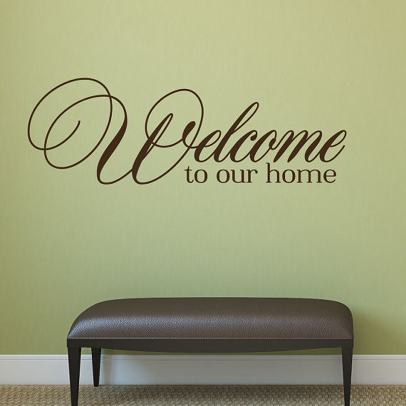 Aliexpress Buy Welcome To Our Home Quote Wall Decals
