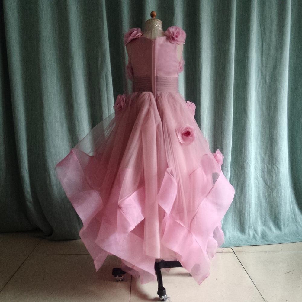 Hermosa luz púrpura Vestidos de flores de niña para la boda hecho a ...