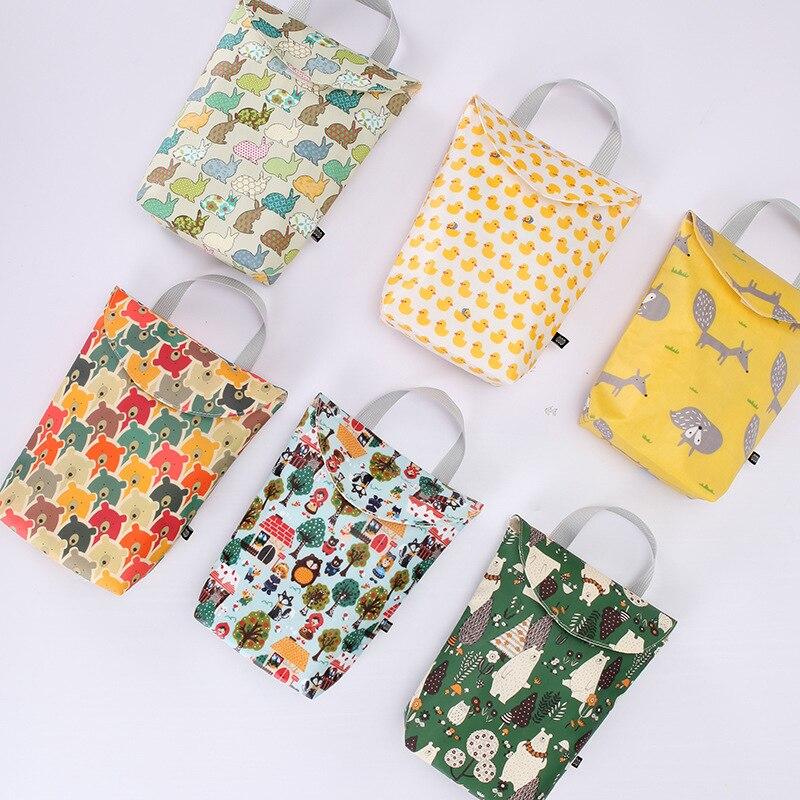 Diaper-Bags Stroller-Hook Baby Waterproof Portable Nursing Wet-Cloth