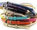 2016 new arrival Women fashion skinny belt with gold buckle adjustable length  thin skinny belt Decoration belt