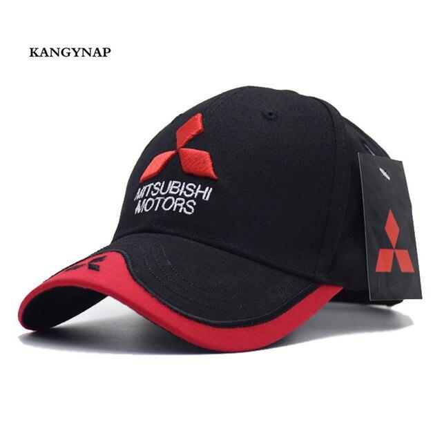KAGYNAP  Mitsubishi MOTO GP Trucker Caps 3 d Embroidery Motorcycle  Snapback Hats For Men Women Baseball caps casquette 88eedda9161