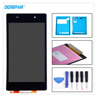 A Black For Sony Xperia Z2 L50W D6502 D6503 LCD Display Digitizer Touch Screen Assembly Replacement