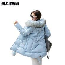 S-6XL 2019 Новый Для женщин Зимняя хлопковая куртка теплый длинный тонкий толстое хлопковое пальто с большой меховой воротник карман волосы мяч Mujer Casaco