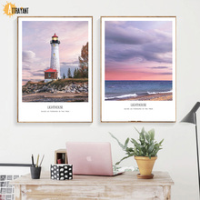 Lighthouse Sea Cloud Quotes Nordic Posters And Prints Wall Art Canvas Painting Pictures For Living Room Bedroom Home Decor