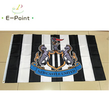 England EPL Newcastle United FC 3ft*5ft (90*150cm) Size Christmas Decorations for Home Flag Banner Gifts