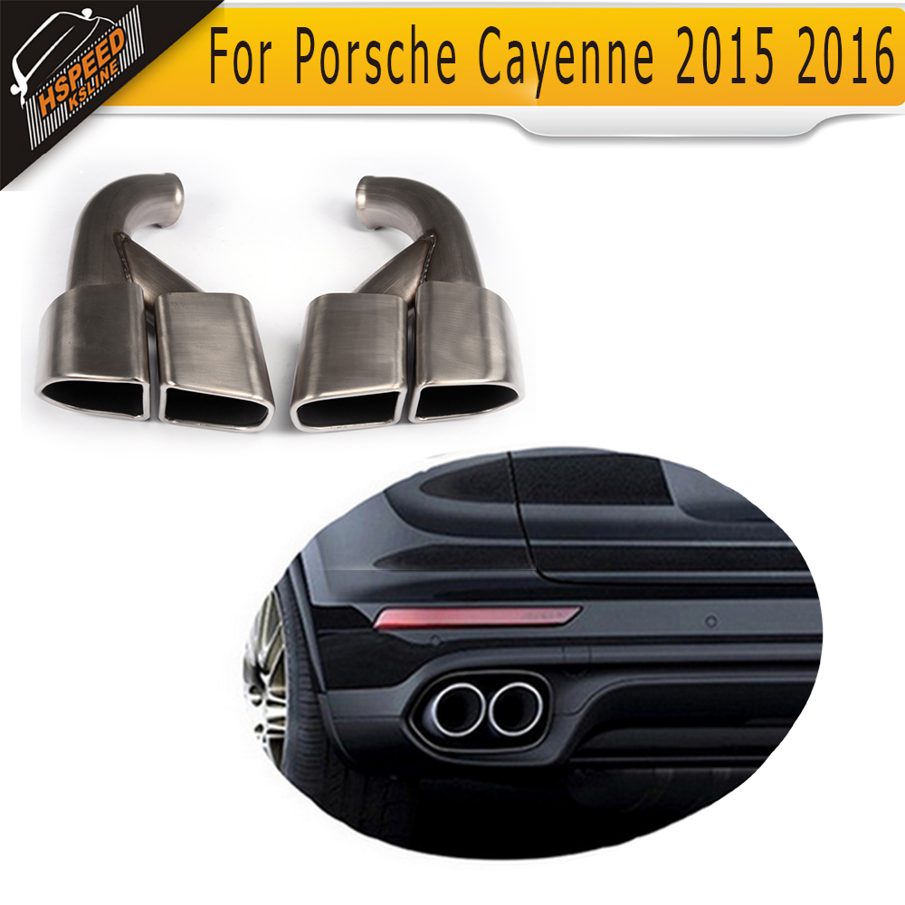Exhaust Pipe Exhaust End Pipes Auto Mufflers for Porsche Cayenne 2015 2016 SUV 958 GTS S Sport image