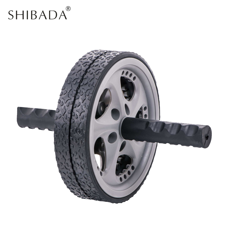 SHIBADA Abdominal wheel Quiet  No Noise Muscle Exercise for Gym Fitness Workout Abdomen Exerciser Wheel Ab Rollers