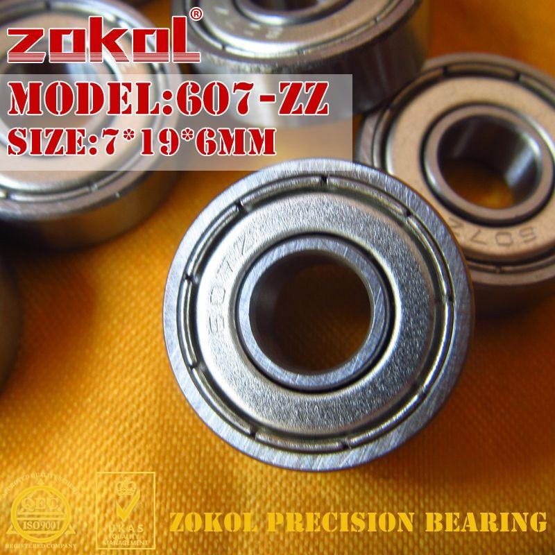 ZOKOL 607ZZ bearing 607 ZZ Miniature 607-ZZ Deep Groove ball bearing 7*19*6mm zokol mr84 zz bearing mr84zz miniature bearing deep groove ball bearing 4 8 3mm