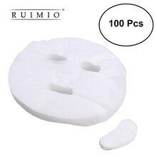 100 шт ультра-тонкая DIY косметическая маска для ухода за кожей лица одноразовая маска для лица Чистый хлопок бумажная маска для лица Инструменты для красоты