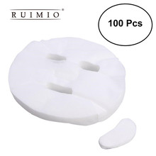 100Pcs Ultradunne Diy Cosmetische Gezicht Huidverzorging Masker Wegwerp Gezichtsmasker Puur Katoen Papier Facemask Vel Schoonheid gereedschap