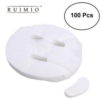 100pcs Ultra-thin DIY Cosmetic Face Skin Care Mask Disposable Facial Mask Pure Cotton Paper Facemask Sheet Beauty Tools