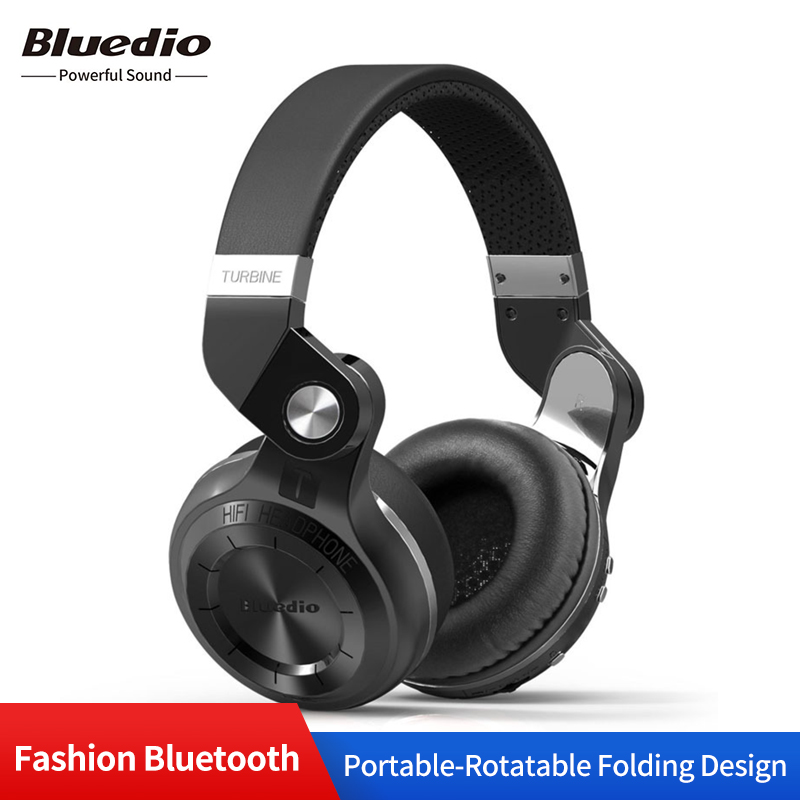 Casque cuir Bluetooth Original Bluedio T2s avec micro casque Sport filaire et sans fil pliable rotatif pour iPhone PC/tablette