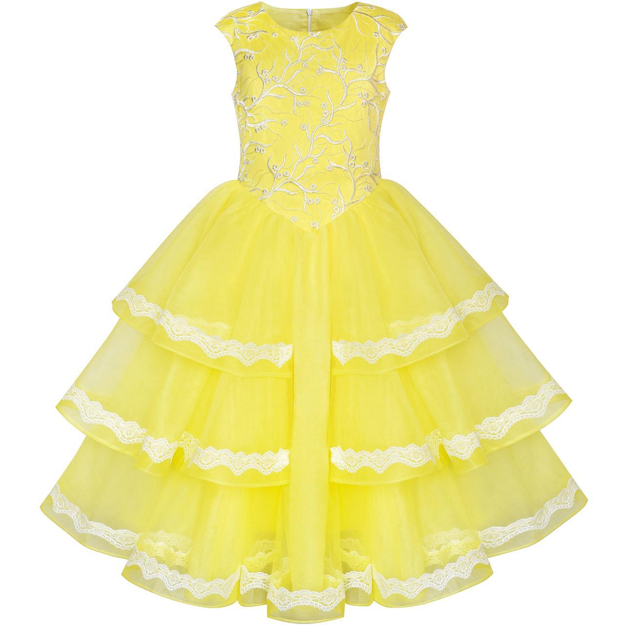 Девушки платье бальное платье принцессы животе Красавица и Чудовище 2018 летние свадебные платья партии девушки одежда Размер 6-12 вечернее сарафан