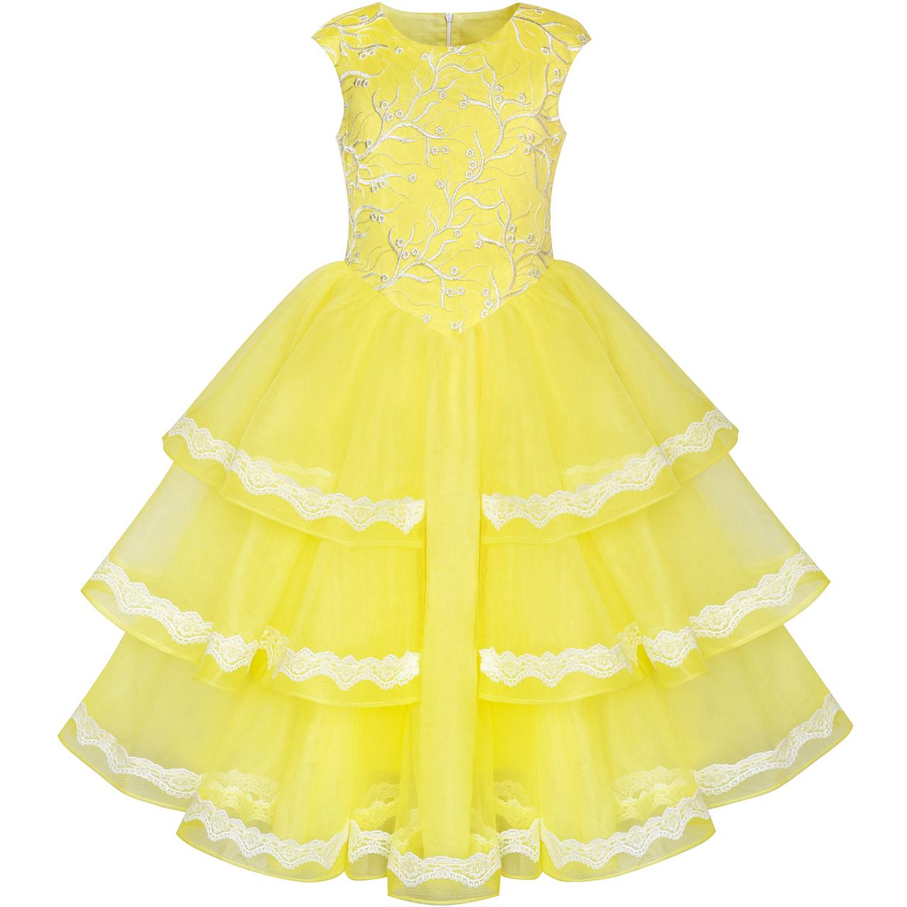 Sunny Fashion Robe Fille Ballon Robe Princesse Belle Beauté Et La bête