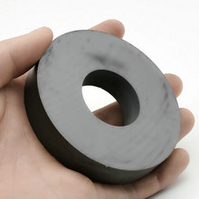 "Ferrite Magnet Ring Outer Diameter 80mm 3"" large grade C8 Ceramic Magnets for DIY Loud speaker Sound Box board home use 1pc"